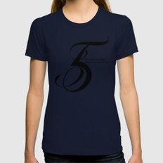 Number 5 Womens Fitted Tee Navy SMALL