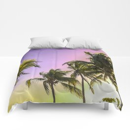 PURPLE AND GOLD SKIES 2 Comforters