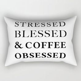 Stressed Blessed Obsessed Rectangular Pillow