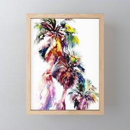 Desert Palm Trees, Southwestern tropical Palms Framed Mini Art Print