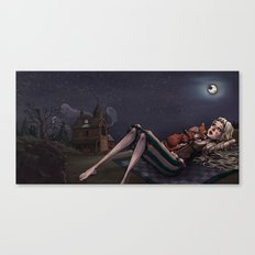 I was too fond of the stars Canvas Print