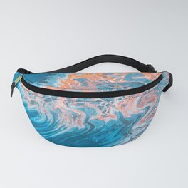 Blue Abstract Art Fanny Pack