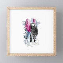 i am ninja 01 // tired ninja Framed Mini Art Print
