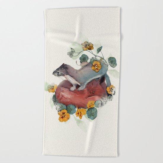 Stoat & Fox Beach Towel