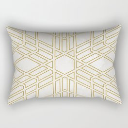 Golden stars on cream marble Rectangular Pillow