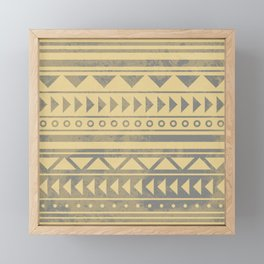 Ethnic geometric pattern with triangles circles and lines Framed Mini Art Print