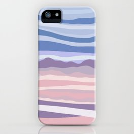 Mountain Scape // Abstract Desert Landscape Red Rock Canyon Sky Clouds Artistic Brush Strokes iPhone Case