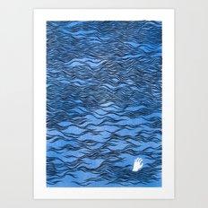 Man & Nature - The Dangerous Sea Art Print