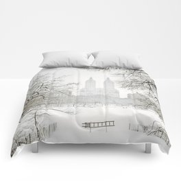Winter - Central Park - New York City Comforters