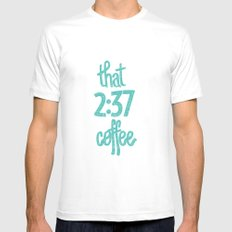 That 2:37 Coffee MEDIUM Mens Fitted Tee White