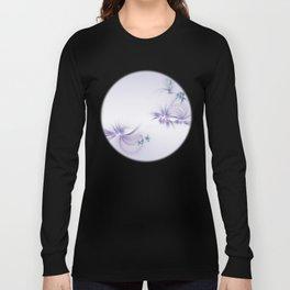 Fey Lights Fractal in Violet Long Sleeve T-shirt