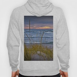 Sunset Photograph of a Dune with Beach Grass at Holland Michigan No 0199 Hoody