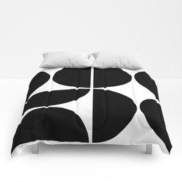 Mid Century Modern Black Square Comforters