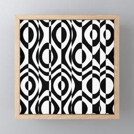 black and white terms Framed Mini Art Print