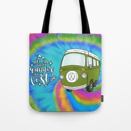 Camper Bus Not All Who Wander Are Lost Tote Bag
