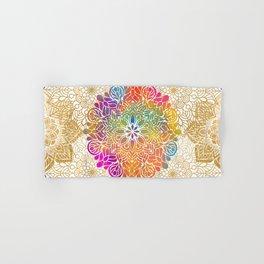 Beautiful Colorful Bohemian Mandala Pattern Hand & Bath Towel