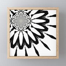 The Modern Flower White & Black Framed Mini Art Print