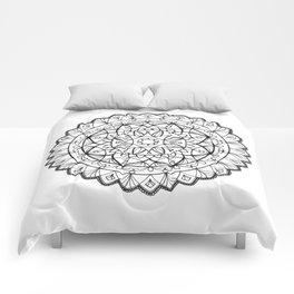 free-hand mandala Comforters