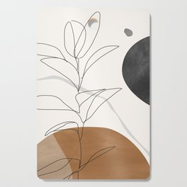 Abstract Art /Minimal Plant Cutting Board