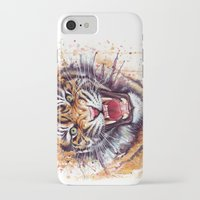 tiger iPhone & iPod Cases featuring Tiger by Olechka