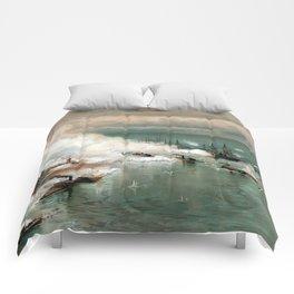 Battle Of Mobile Bay -- Civil War Comforters