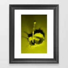 A Drop of Yellow Framed Art Print