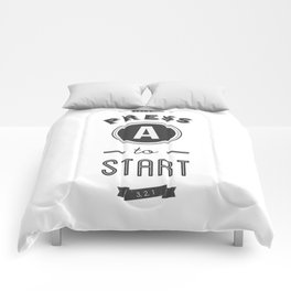 Press A to Start Comforters