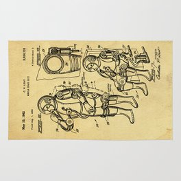 Mobile Space Suit Support Patent Drawing From 1956 Rug
