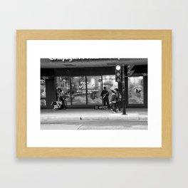 Sidewalk Electric Framed Art Print