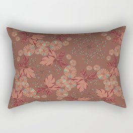 Dandelion Geometric in brown and blue Rectangular Pillow