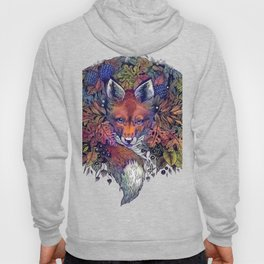 Hiding fox rainbow Hoody