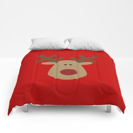 Christmas Reindeer-Red Comforters