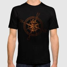 Wooden Anchor X-LARGE Mens Fitted Tee Black