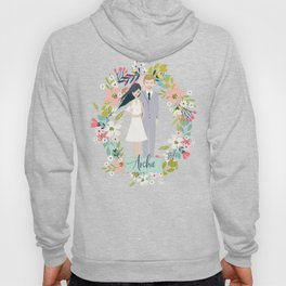Archie Harry and Meghan Sussex Family Illustration Hoody