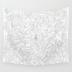 The Lego Movie —Colouring Book Version Wall Tapestry