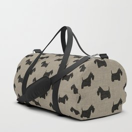 Scottish Terrier | Black Scottie Dog Silhouette Duffle Bag