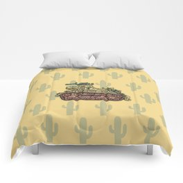 African desert corps tank WWII Comforters