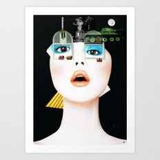 Crazy Woman - Marie Jane/Collab with Hugo Barros Art Print