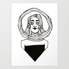 Infinity Hair Lock Art Print