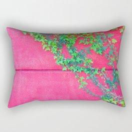 MUR ROUGE AVEC LIERRE Rectangular Pillow