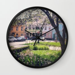 Spring in Romania Wall Clock