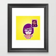 Smart Kokeshi Framed Art Print