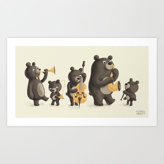 Bear Music Art Print