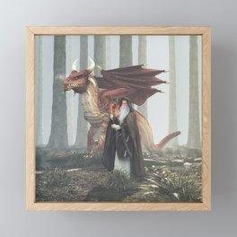 Dragon Wizard Framed Mini Art Print