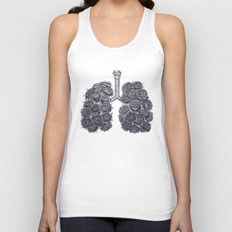 Lungs with peonies Unisex Tank Top