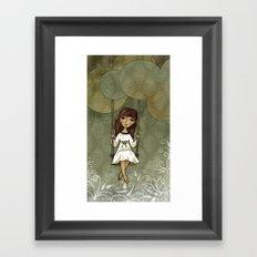 Hannah on a Swing Framed Art Print