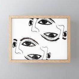 Ancient mask by poppyshome Framed Mini Art Print