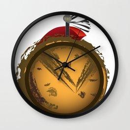 Romulus Shield block Wall Clock