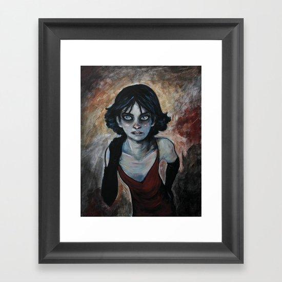 """Character study - """"The Girl"""" Framed Art Print"""