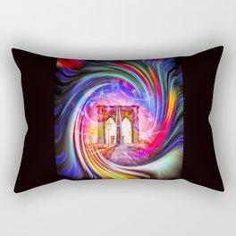 New York Brooklyn Bridge Rectangular Pillow